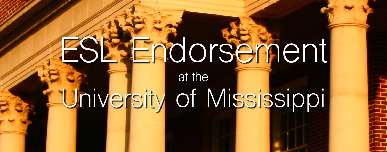 ESL Endorsement